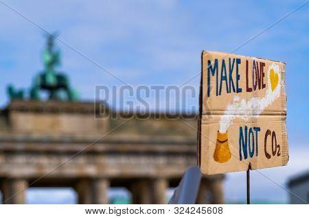 Berlin, Germany - 20 september 2019: Climate change strike. Demonstration in the center of Berlin