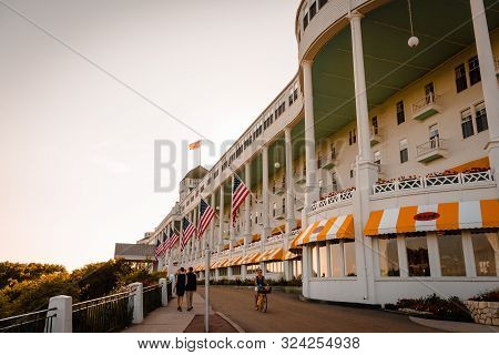 Mackinac Island Mi /usa - July 9th 2016: The Grand Hotel On Mackinac Island