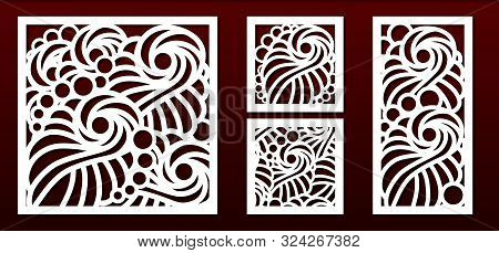 Laser Cut Pamels Template, Abstract Geometric Pattern. Metal Decorative Cutout, Wood Carving, Fretwo