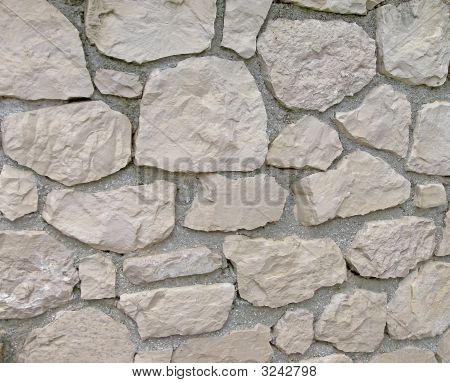 Gray Stone Wall With Cement