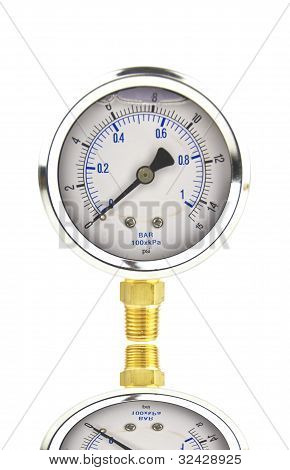 Pressue Gauge With Shadow Reflection