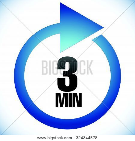3 Min Turnaround Time (tat) Icon. Interval For Processing, Return To Customer. Duration, Latency For