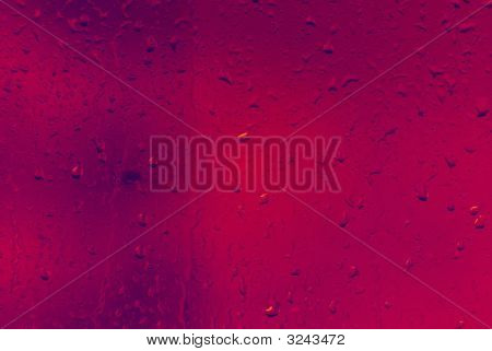 Red Glass With Waterdrops
