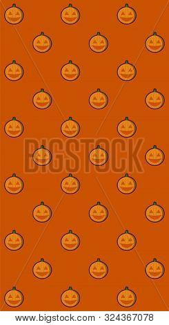 Jack O Lantern Pumpkin Vector Pattern Illustration For Halloween Banner Also Can Use For Media Socia