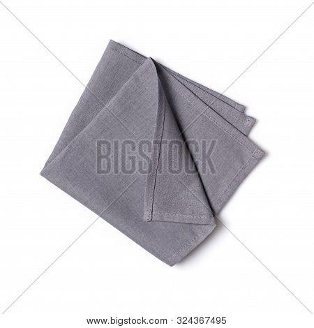 Single Folded Gray Linen Napkin