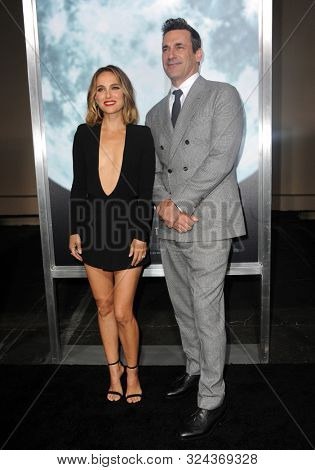 actor Jon Hamm and actress Natalie Portman at the Los Angeles premiere of 'Lucy In The Sky' held at the Darryl Zanuck Theate in Los Angeles, USA on September 25, 2019.
