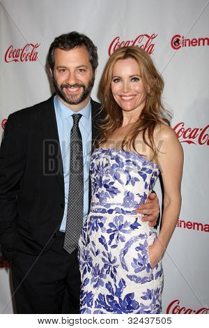 LAS VEGAS - APR 26:  Judd Apatow, Leslie Mann arrives at the CinemaCon 2012 Talent Awards at Caesars Palace on April 26, 2012 in Las Vegas, NV