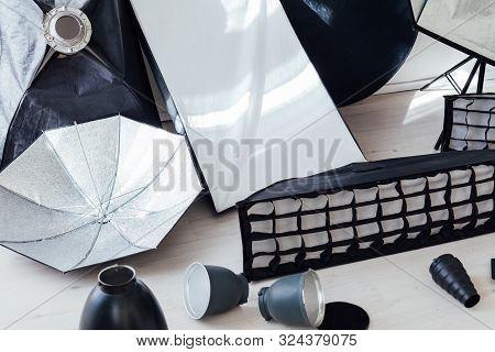 Equipment White Photo Studio Flash Accessories Photographer