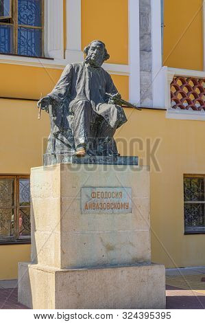 Feodosia, Crimea, Russia - September 11, 2019: Aivazovsky Monument In Feodosia Near The Aivazovsky M
