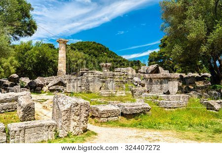 Archaeological Site Of Olympia, Unesco World Heritage In Greece