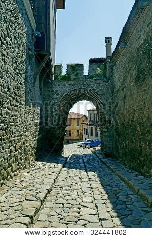 Hisar Kapia - Ancient Gate In Plovdiv Old Town, Bulgaria. Plovdiv Is The European Capital Of Culture