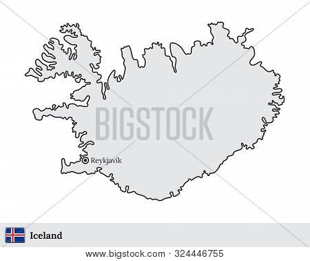 Iceland Vector Map Vector & Photo (Free Trial)   Bigstock