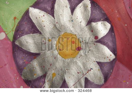 Painting Silver Flower