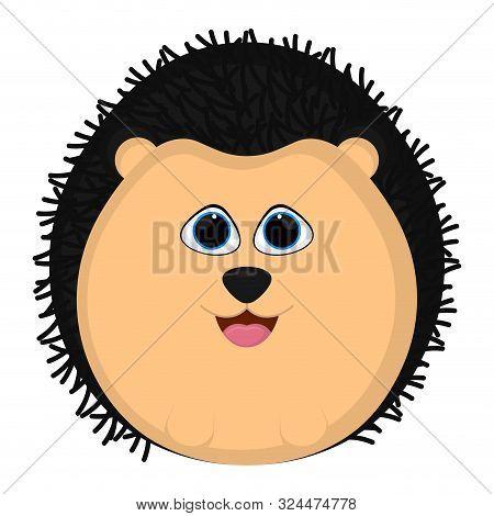 Isolated Cartoon Of A Cute Porcupine - Vector
