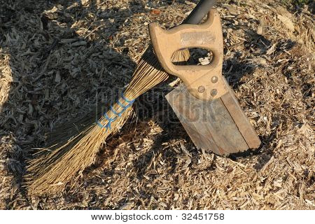 Wood Chips and Tools