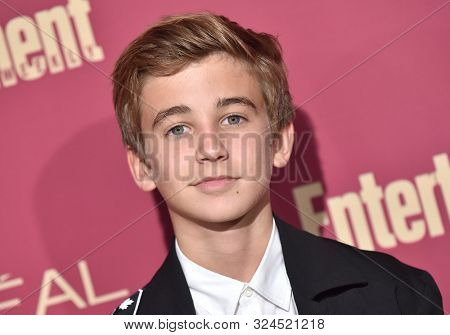 LOS ANGELES - SEP 20:  Parker Bates arrives for the Entertainment Weekly Pre Emmy Party on September 20, 2019 in West Hollywood, CA