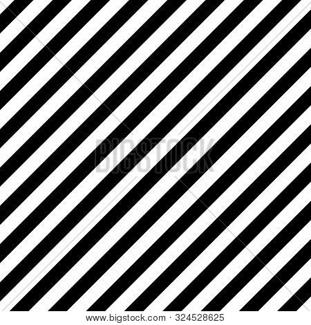 Halloween Pattern Of Repetitive Slanting Strips Of Black And White Color. Black And Orange Slanting
