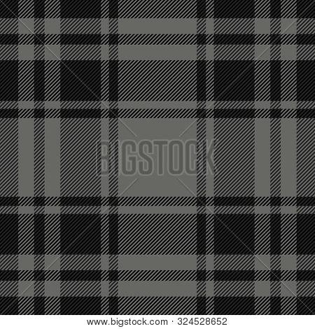 Halloween Tartan Plaid. Scottish Pattern In Black And Grey  Cage. Scottish Cage. Traditional Scottis