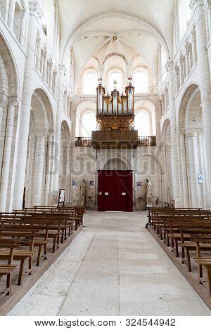 Saint-martin-de-boscherville, Seine-maritime / France - 13 August 2019: Interior View Of The Abbey O