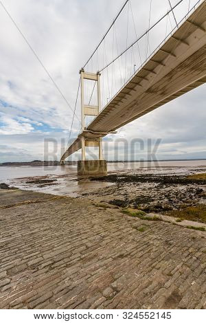 North Side Of The Severn Crossing From Beachley, Portrait