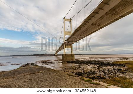 North Side Of The Severn Crossing From Beachley, Landscape