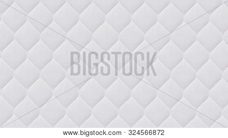 Close Up Of White Mattress Bedding Pattern Background