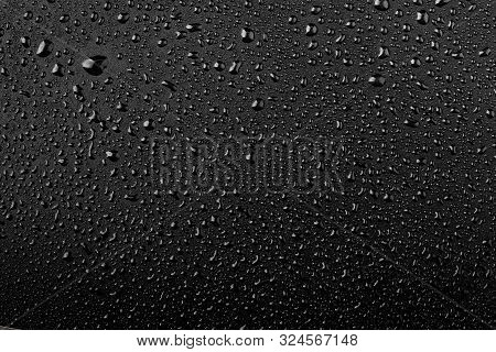 Water Droplets, Water Droplets On Black Background
