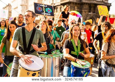 Trieste, Italy. 27.09.2019. 3th Fridays For Future. An Global Stoppage And Protest Demonstration.