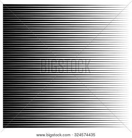 Horizontal Lines, Stripes Geometric Pattern. Straight Parallel Streaks. Edgy Pinstripes, Strips Desi