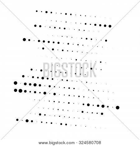 Random Dots Half-tone Element. Random Speckle, Stipple Geometric Pattern. Circles Halftone Pattern.