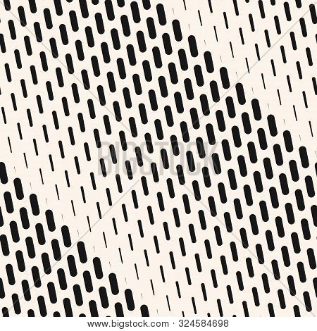 Vector Geometric Halftone Seamless Pattern With Vertical Dash Lines, Fading Stripes. Diagonal Gradie