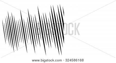 Random Dynamic Vertical Lines Pattern. Comic Action Lines. Parallel Stripes. Straight Streaks, Strip