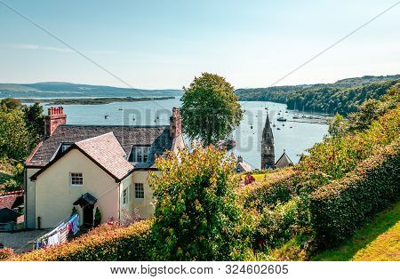 Tobermory / Uk - August 25 2019: View From Above. Tobermory Is The Capital Of Mull, In The Isle Of M