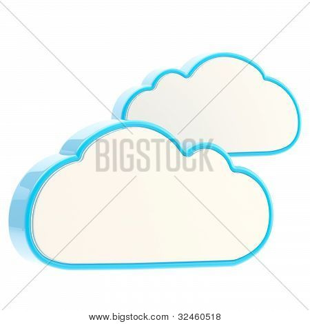 Cloud computing technology icon