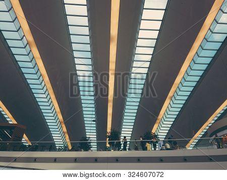 Budapest, Hungary. September 2019: Budapest Ferenc Liszt International Airport Named After Franz Lis