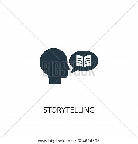 Storytelling Icon. Simple Element Illustration. Storytelling Concept Symbol Design. Can Be Used For