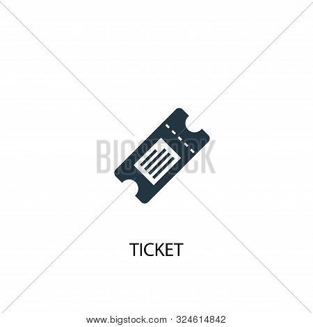 Ticket Icon. Simple Element Illustration. Ticket Concept Symbol Design. Can Be Used For Web