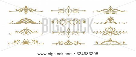 Floral Ornamental Divider. Vintage Decorative Elements For Wedding Invitation And Greeting Cards. Ve