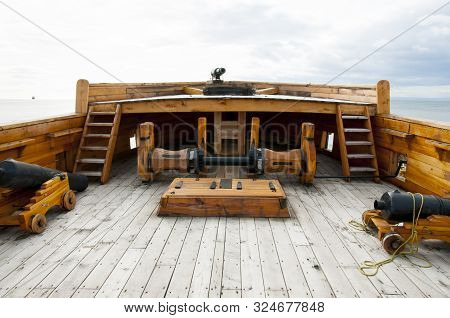 Deck Of Old Wooden Ship - Chile