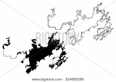 Birmingham City (united States Cities, United States Of America, Usa City) Map Vector Illustration,