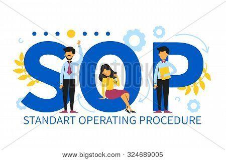 Sop Standard Operating Procedure Vector Isolated. Abbreviation