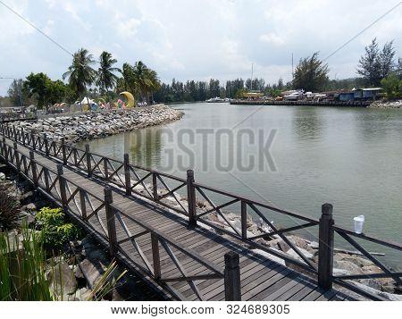 Seaside Or Beach At Miri, Sarawak, Malaysia, Year 2019.