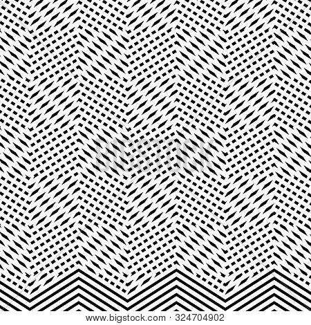 Interlace, Interlocking Lines. Curve, Flex Intersecting Lines Grid, Mesh. Interweaved Waving, Zig-za