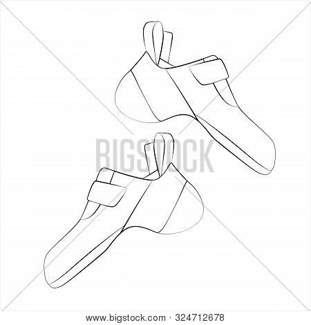Climbing Shoes Pair Isolated On White Background. Vector Illustration.