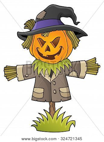 Scarecrow Topic Image 1 - Eps10 Vector Picture Illustration.