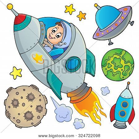 Space Topic Collection 1 - Eps10 Vector Picture Illustration.