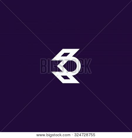 Abstract Logo Letter K + D, Simple Design, Vector Stock Eps 10.