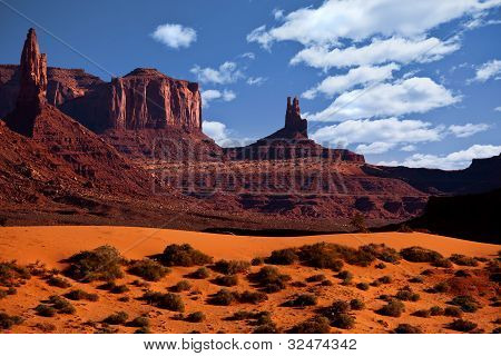Monument Valley Arizona, The Red Rock Buttes, Also Called Mittens