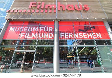 Berlin Germany - June 8, 2019: Filmhaus Film And Television Museum Berlin Germany