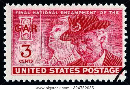 Usa - Circa 1949: A Stamp Printed In Usa From The